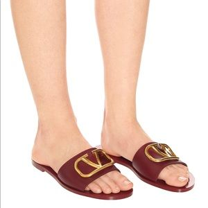 Authentic Valentino V Logo Chocolate Brown Sandals
